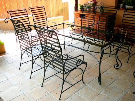 Okto terasz garnitúra: asztal és székek 4-6-8-10-12 személyes ...